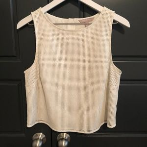 Banana Republic Faux Leather Perforated Tank